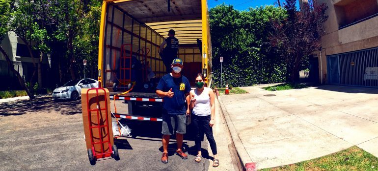 Our Los Angeles apartment movers doing their job.