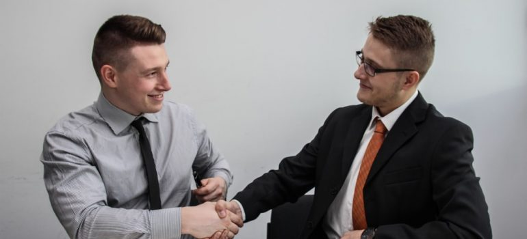 Two men making a good deal