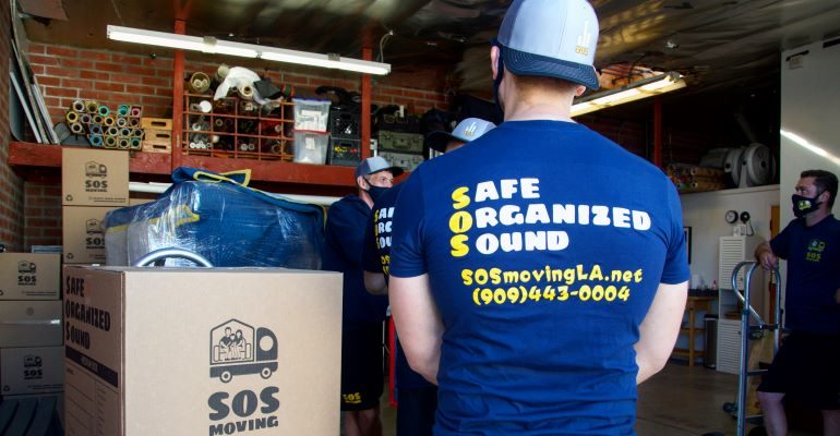 SOS moving crew at our storage Los Angeles warehouse.