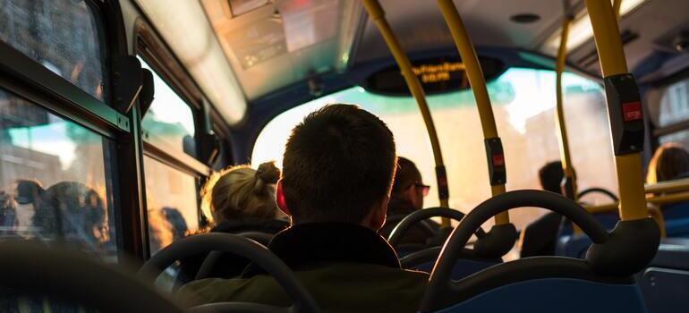 people sitting in the bus